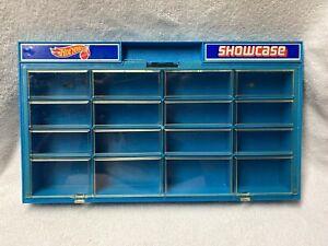 Hot Wheels Wall Mount Showcase - Blue (1981) - Holds 16 Vehicles