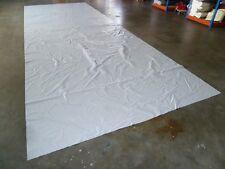 1,5€//m² PVC Folie Abdeckplane LKW Plane 10m x 1,12m ca 430g//qm weiß B Ware