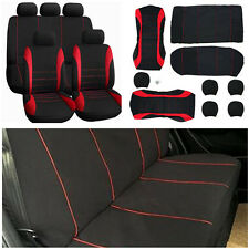 Universal 9Pcs Car SUV Seat Covers Set For Auto Front + Rear Seat Headrests New