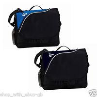 Black Messenger Laptop Shoulder Bag - Work College School Bike Office Courier