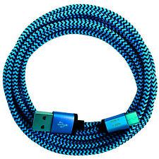 2m USB IN NYLON-C 3.1 tipo C cavo di ricarica Cavo dati per tutte le nuove USB-C cellulari blu @
