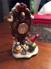 Fitz And Floyd~Enchanted Forest~Holiday Hamlet~�Village Square Clock�~1993~Euc