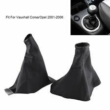 Handbrake Gear Shift Gaiter Boot Cover PU Leather For Vauxhall Corsa Opel 01~06