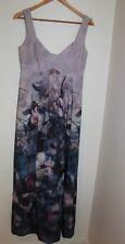 Saba 'beau rose' silk maxi dress size 10