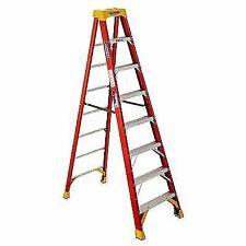 Werner 6208 Type Ia Step Ladder 8 FT 300 LB Fiberglass Steel Spreader