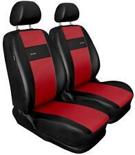 Front seat covers fit Seat Toledo black/red  Leatherette