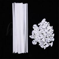 10~60X White Balloon Sticks Plastic Holder Accessories Party Latex Balloon Stick