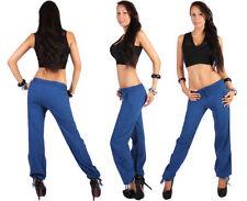 Pantaloni da donna blu in cotone taglia 42