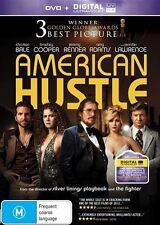 AMERICAN HUSTLE Christian Bale Bradley Cooper DVD/ULTRAVIOLET NEW
