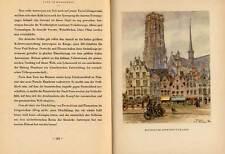 Belgien Flandern Weltkrieg Deutsche Besetzung Kunst Grafik Buch 1942