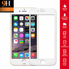 Genuine Tempered Glass Screen Protector Premium Full For iPhone 5 5S SE WHITE
