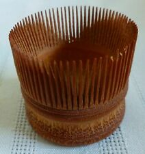 ANTIQUE Round SHAKER COMB Miniature 1.5""