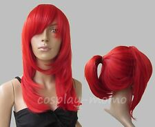 Heat Resistent Long Straight Cosplay Hair Wig Natural braid ponytail All Color