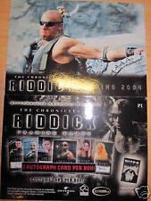 The chronicles of riddick vin diesel 2004 promo rare card mint p1