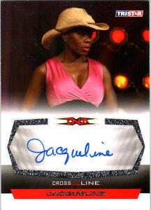 TNA Jacqueline 2008 Cross The Line SILVER Authentic Autograph Card