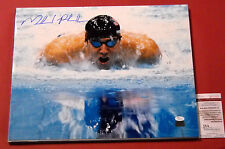 MICHAEL PHELPS AUTOGRAPHED 16X20 USA OLYMPIC SWIMMING JSA 23 GOLD MEDALS FVB