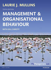 Management and Organisational Behaviour, Mullins, Laurie J., Used; Good Book