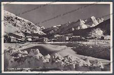 VALLE D'AOSTA COGNE 71 NEVE NEVICATA INVERNO Cartolina FOTOGRAFICA viagg. 1948