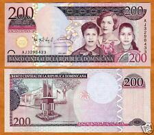 Independent Dominikanische Dominican Rep 200 Pesos Oro 2007 Unc P.178