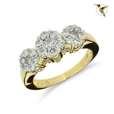 NEW .94ctw Diamond Cluster Floral Ring Set in 14k Solid Yellow Gold #2829