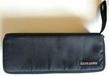 Vintage Case Logic Black 15 Cassette Tape Storage Case, Portable Travel Bag, USA