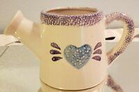 Vintage Spongeware Heritage Pottery Sprinkling Can
