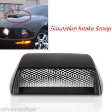 Universal Car Decorative Front Bonnet Hood Air Flow 3D Intake Scoop Vent Styling