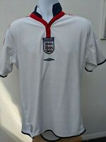 England Home Football Shirt (Reversible) 2003-2005  Umbro Size M/L 42 Chest