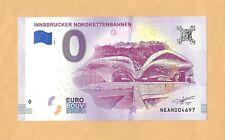 0 Euro Schein INNSBRUCKER NORDKETTENBAHNEN.Souvenir  Banknote  Österreich  2018