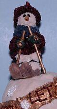 "Boyds Bears ornament ""Olaf.Let It Snow"" #25650 snowman skier 1996 Christmas Nib"