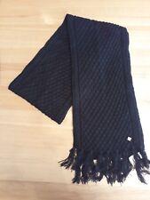 Kangol Negro Bufanda de invierno señoras medio de punto Bufanda señoras de  largo negro 1b1a42ec8c0