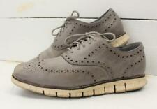 Cole Haan ZeroGrand Mens Gray Leather Shortwing Wing Tip Shoes Size 9.5 M