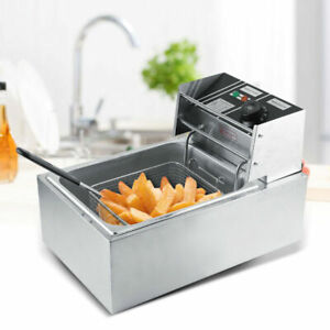 2500W 6L Deep Fryer Single Frying Chef Electric Commercial Basket Chip Cooke chi