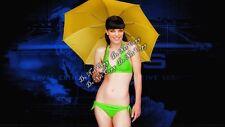 Pauley Perrette Photo NCIS Abby Sciuto Bikini Umbrella Sexy 4x6 Rare