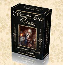 70 Vintage Books Wrought Iron Design Gate Railing Blacksmith Old Forge Tools 268