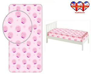Fitted Sheet Peppa Pig Single Bed %100 Cotton,Official Licensed(200x90x25cm)