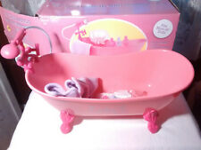 Doll Pink Bathtub Soaker Clawfoot Tub Faucet Hand Shower for American Girl 18""