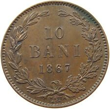 ROMANIA 10 BANI 1867 WATT CO #s46 237