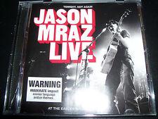 Jason Mraz Live Tonight Not Again CD - Like New