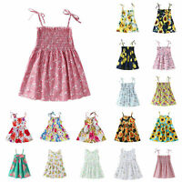 Toddler Kids Baby Girls Summer Dress Princess Party Wedding Formal Skirt Dresses
