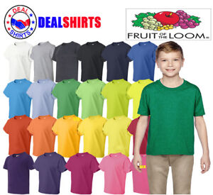 Fruit of the Loom - HD Cotton Youth Short Sleeve T-Shirt - 3930BR/3931B