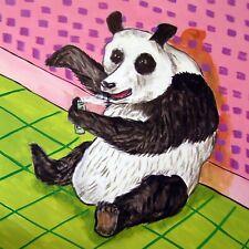 panda bear tile panda gift panda coaster modern folk pop JSCHMETZ