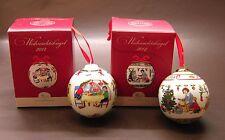 Hutschenreuther Porzellankugeln / Weihnachtskugeln Set: Motive  2012 und 2014