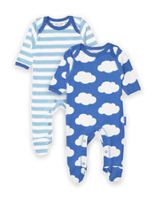 Toby Tiger Organic Cloud Babygrow Sleepsuit 2-Pack | 0-3 3-6 6-12 Months