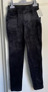 NEW Tea Collection Girls Black Velour Jeggings pants size 8/10