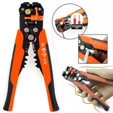 "Self Adjusting Orange Wire Stripper Cutter Crimper Cable Stripping Hand Tools 8"""