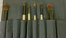 6 Bodyography makeup brushes with Dark Blue Case with Bodyography emblem - Used