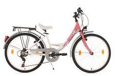 Kinderfahrrad 24 Zoll 6-Gänge Fahrrad Mädchen Fabulous weiß Rh 36 cm 403K