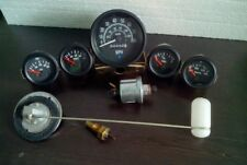 Gauges Kit- 85 mm Speedometer+ 52 mm (Elec Temp +Oil +Fuel+ Volt )+ Senders Blk