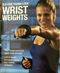 Wrist Weights for Women OR Men w Thumb-Lock Pair (2 lb Each) Arm Tone Sculpt